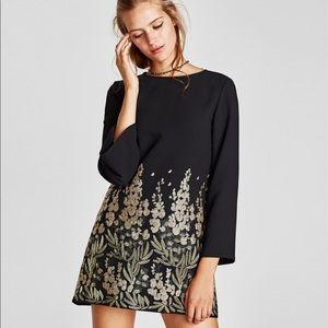 NWOT ZARA   Mini Dress w/ Embellished Embroidery